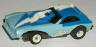 AFX Pinto Thunderbolt screeecher funny car, light blue with blue and white.