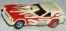 AFX Vega van gasser with flames, white with red.