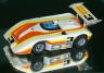 AFX Shadow can-am, white with burnt orange and yellow #3.