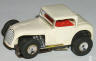 Aurora TJet slot car hot rod coupe in white